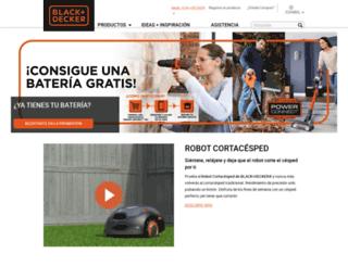blackanddecker.es screenshot