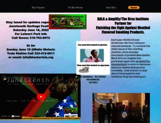 blackartslosangeles.org screenshot