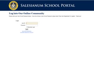 blackbaud.salesianum.org screenshot