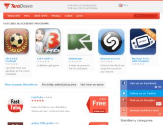 blackberry.teradown.com screenshot