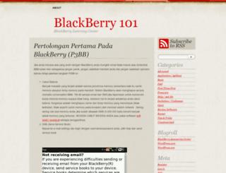 blackberry101.wordpress.com screenshot