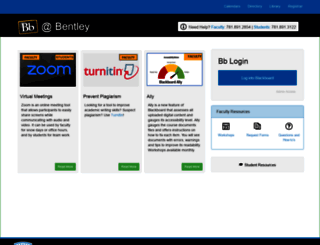 blackboard.bentley.edu screenshot