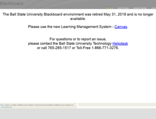 blackboard.bsu.edu screenshot