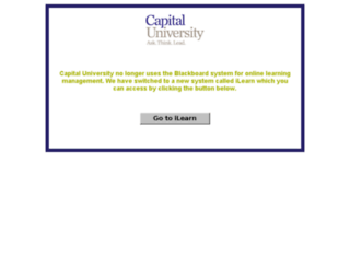 blackboard.capital.edu screenshot