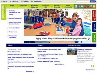 blackboard.centennialcollege.ca screenshot