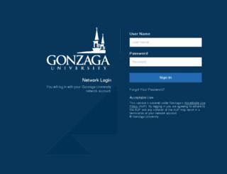 blackboard.gonzaga.edu screenshot