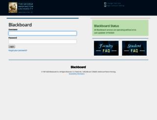 blackboard.gwu.edu screenshot