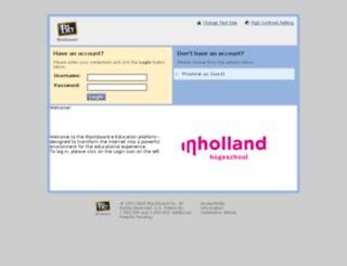 blackboard.inholland.nl screenshot