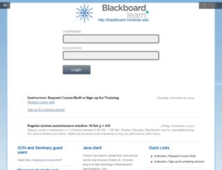 blackboard.moravian.edu screenshot