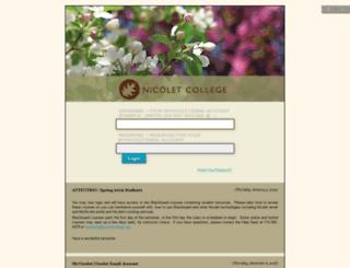 blackboard.nicoletcollege.edu screenshot