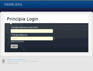 blackboard.principia.edu screenshot