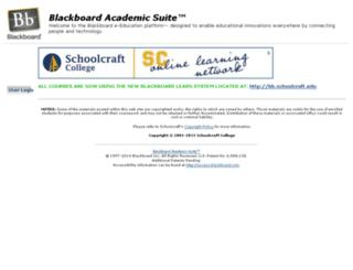 blackboard.schoolcraft.edu screenshot
