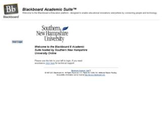 blackboard.snhu.edu screenshot