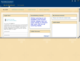 blackboard.subr.edu screenshot