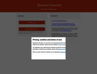blackboard.syr.edu screenshot