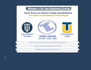 blackboard.touro.edu screenshot