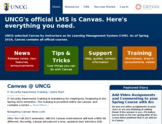 blackboard.uncg.edu screenshot