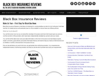 blackboxinsurancereviews.com screenshot