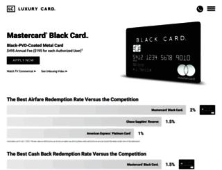 blackcard.com screenshot