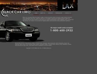 blackcarlimo.com screenshot