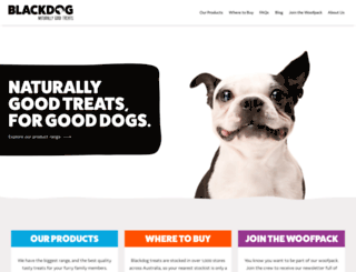 blackdogpetfoods.com.au screenshot