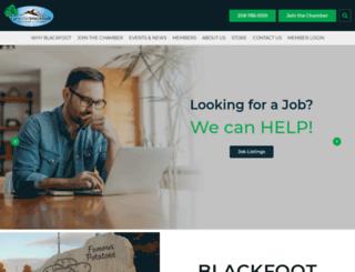 blackfootchamber.org screenshot