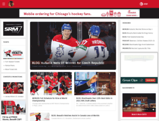 blackhawks.nhl.com screenshot