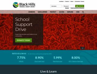 blackhillsfcu.org screenshot