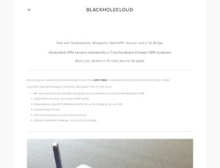 blackholecloud.com screenshot