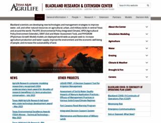 blackland.tamu.edu screenshot