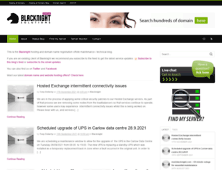 blacknightstatus.com screenshot