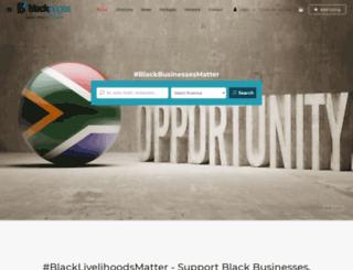 blackpages.co.za screenshot
