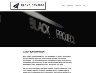 blackprojectbeer.com screenshot
