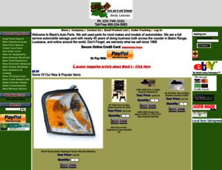 blacksautoparts.com screenshot
