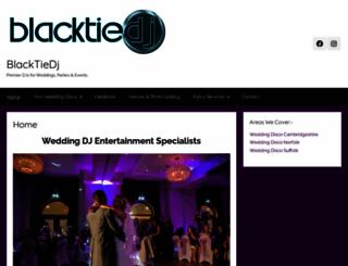 blacktiedj.co.uk screenshot
