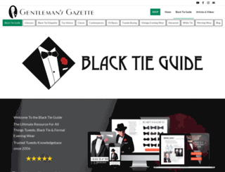 blacktieguide.com screenshot