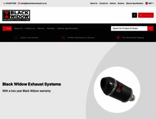 blackwidowexhausts.co.uk screenshot