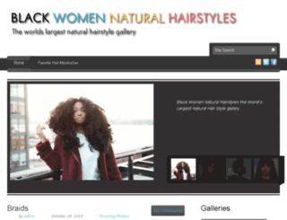 blackwomennaturalhairstyles.com screenshot