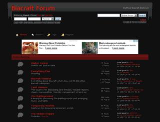 blacraft.createaforum.com screenshot
