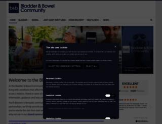 bladderandbowelfoundation.org screenshot