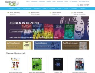 bladmuziekplus.nl screenshot