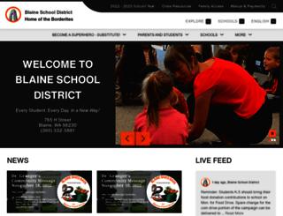 blainesd.org screenshot