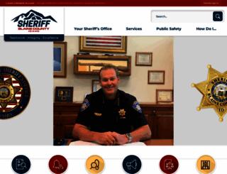 blainesheriff.com screenshot
