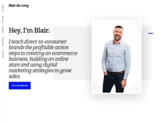 blairdejong.com screenshot