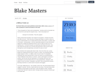 blakemasters.com screenshot