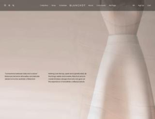 blanchot.co.kr screenshot
