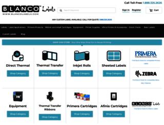 blancolabels.com screenshot
