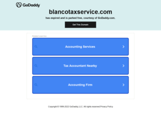blancotaxservice.com screenshot