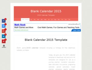 blankcalendar2015.net screenshot