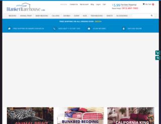 blanketwarehouse.com screenshot